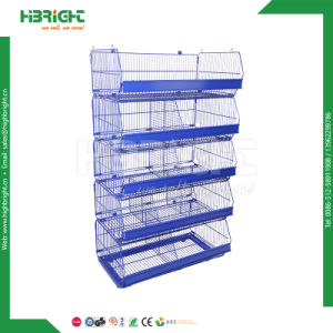 Grocery Shop 3 Level Stackable Basket Promotaion Display Shelf pictures & photos