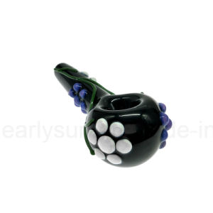 Glass Poison Lagoon Spoon for Smoking with Slyme Bumps (ES-HP-071) pictures & photos