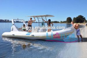 Liya 6.6m Fiberglass Inflatable Rib Fishing Boat with Outboard Motors pictures & photos