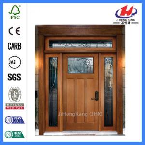 Moulded Europe Solid Wooden Door (JHK-G32-2) pictures & photos