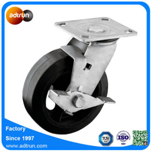 Heavy Duty Rubber Cast Iron Core 6 Inch Casters pictures & photos