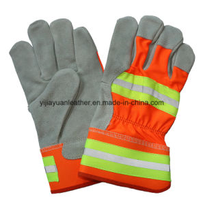 Cow Split Leather Miners Work Gloves pictures & photos