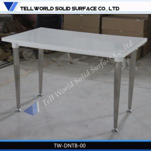 Artificial Marble Dining Room Table Set for 4 People pictures & photos