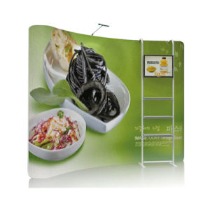 8FT Curve Aluminum Banner Stand with Display Rack pictures & photos