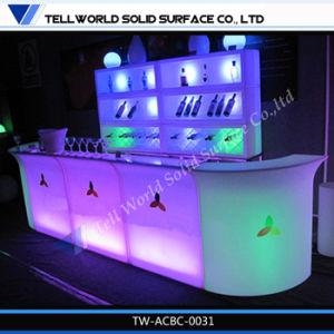 Modern Elegant Acrylic Solid Surface Wine Bar Counter (TW-110) pictures & photos