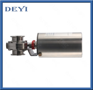 Stainless Steel Sanitary Aluminum Actuator Butterfly Valve (DY-V022) pictures & photos