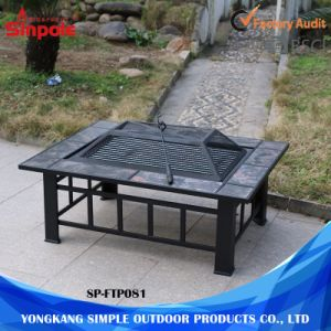 2 in 1 Excellent Quality Outdoor Garden BBQ Fire Pit Table pictures & photos