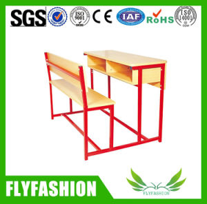 High Quality Classroom Furniture Double Student Desk and Chair (SF-61) pictures & photos