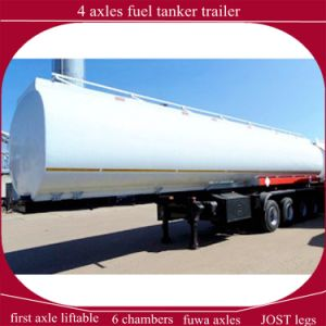 First Axle Lifting 4 Axles Fuel Tanker Semi Trailer for Sale pictures & photos