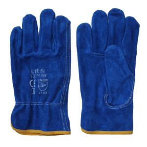 Ab Grade Cow Split Leather Safety Working Drivers Gloves pictures & photos