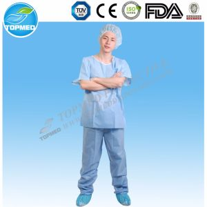 Nonwoven PP or SMS Hospital Medical Scrubs Pants Uniform Suits pictures & photos
