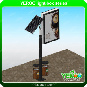 Double Sided Outdoor City Solar Lamp Post Light Box pictures & photos