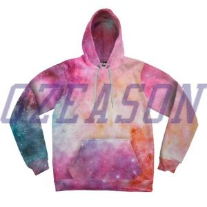 Custom Stylish Unisex Polyester Sublimation Hoodies with Fleece Lining (HD018) pictures & photos
