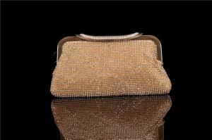 Gold Color Handmade Women Bridal Clutch Bag Wholesale pictures & photos