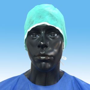 Disposable Nonwoven Medical Surgeon Cap with Tie on pictures & photos