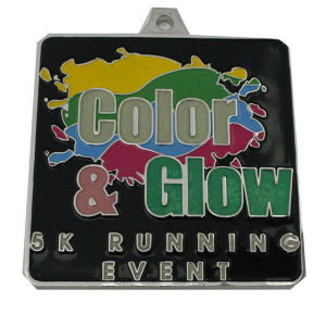 Gloss Running Medal with Logo Lanyard (GZHY-KC-022) pictures & photos