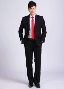 100% Wool Men′s Wedding Dress Checks Custom Suit pictures & photos