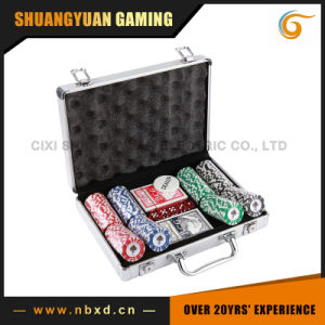 200PCS Poker Chip Set in Round Corner Real Aluminum Case pictures & photos