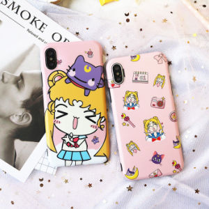 Cartoon Sailor Moon Pink Soft TPU Phone Case for iPhone X pictures & photos