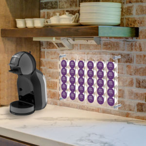 Transparent Wall Mounted Acrylic Coffee 30PCS Capsule PCS Acrylic Coffee Pod Holder pictures & photos