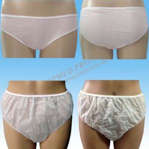 Disposable Printed Underwear for Ladies, Nonwoven Leadies Panties with Printing pictures & photos