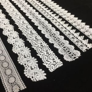 Polyester Scalloped Trimming Lace, Floral Trim Lace, Eyelet Lace Trim, Vintage Lace Fabric pictures & photos
