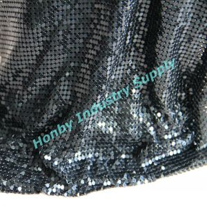 Gun Metal Color 4mm Size Metallic Sequin Fabric