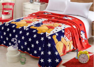 100% Polyester Printed Flannel Blanket Fabric pictures & photos