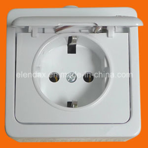 German Style Surface Mounting Schuko Socket Outlet with Cover IP44 Socket Wall Socket (S7510) pictures & photos