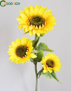 Silk Sunflower Artificial Flower with 3 Heads