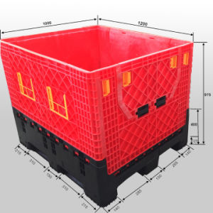 Large Collapsible Plastic Pallet Box pictures & photos