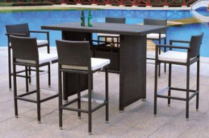 Outoor Furniture/Garde PE Rattan Furniture Bar Sets for Leisure Furniture pictures & photos