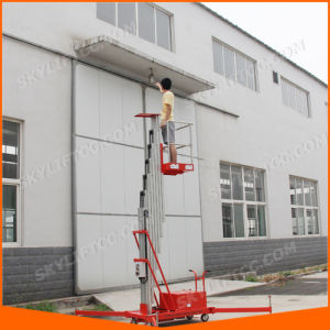 4-10m 120kg Electric Single Mast Aluminum Lift pictures & photos