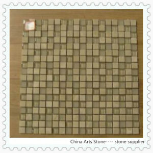 Shana Beige Marble + Glass Mosaic Tile pictures & photos