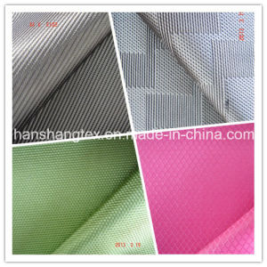 150d Poly Oxford Fabric Jacquard Fabric Garment Fabric Men Clothes Fabric Shell Fabric with Coating (HS-N003)