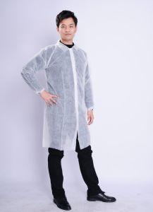 Disposable Polypropylene Non Woven Protective Lab Coat pictures & photos