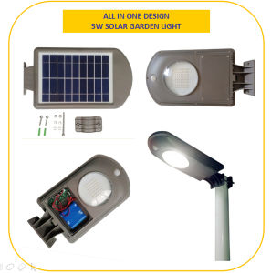 All-in-One Remote Control Small 5W LED Solar Garden Light pictures & photos