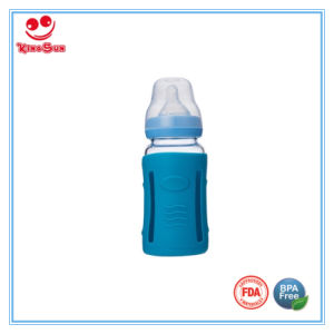Glass Baby Bottles with Silicone Protective Cover 120ml pictures & photos