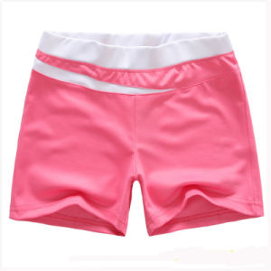 Womens Custom Design Pink 100 Polyester Running Shorts pictures & photos