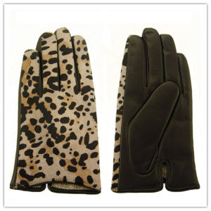 Lady Fashion Leather Gloves (JYG-25217) pictures & photos