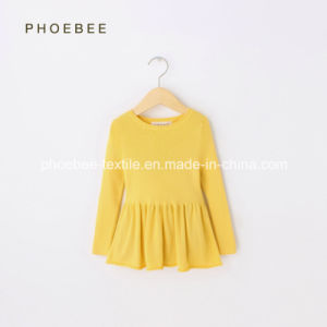 100% Cotton Spring/Autumn Knitted Girls Dress pictures & photos