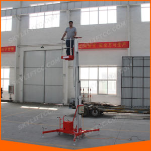 Aluminum Personal Single Mast Lifting Platform for High Work pictures & photos