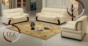 Home Use Beige Color Leather Sofa pictures & photos