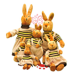 Funny Stuffed Plush Family Rabbit Plush Gift pictures & photos