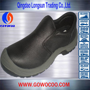 Double Density PU Leather Steel Toe Safety Shoes (GWPU-1002)