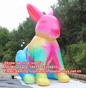 2016 New Design Inflatable Multicolors Rabbit Mascot