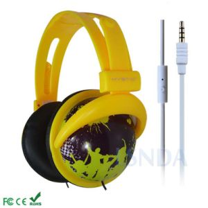 Retro Printed Stylish Mobile Headphone for iPhone (LS-M07)