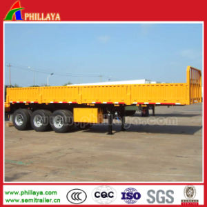 3 Axles 30tons 40FT BPW Detachable Side Wall Semi Trailer pictures & photos