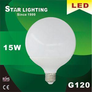 Large Global G120 Aluminum Plastic 15W LED Bulb