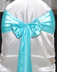Wholesale Satin Chair Sash for Wedding and Banquet pictures & photos